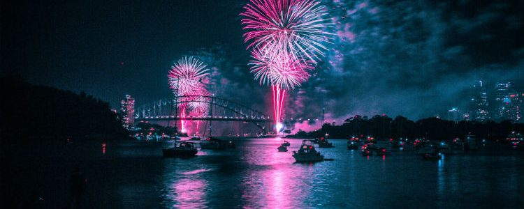 Fireworks in Sydney during New Year