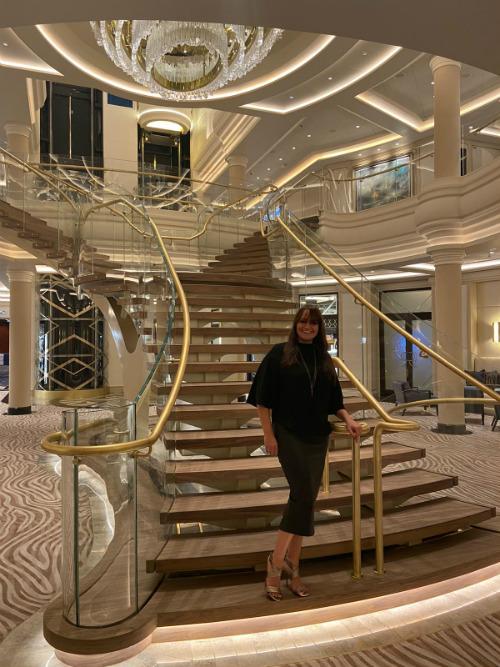 Lisa Mallon on-board Seven Seas Splendor