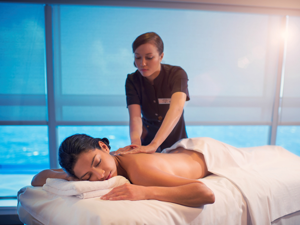 Passenger receiving a massage on-board Regent Seven Seas