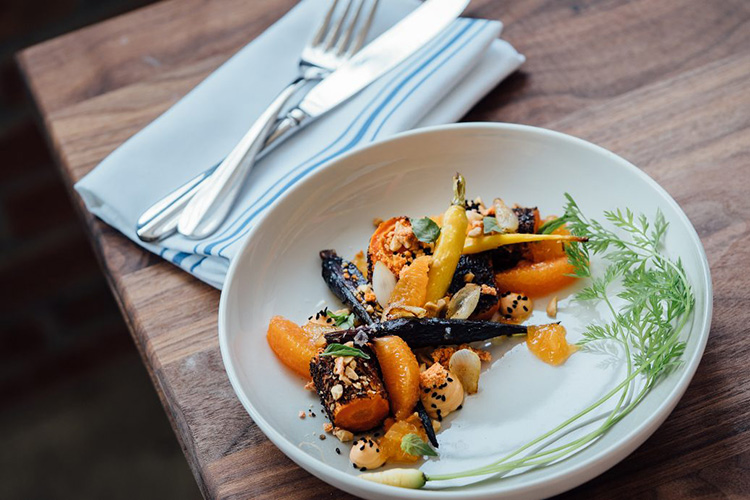 Plate of roasted vegetables