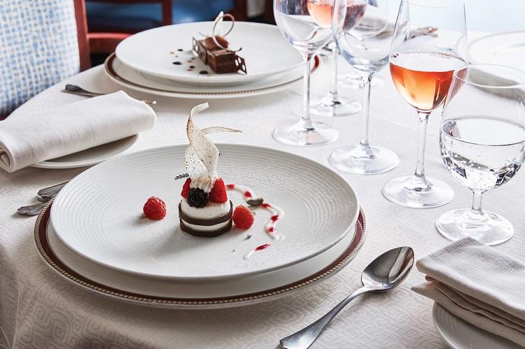 Gourmet dessert on-board Silversea Silver Explorer