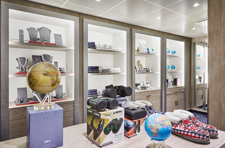 The new Expedition Boutique on-board Silver Explorer