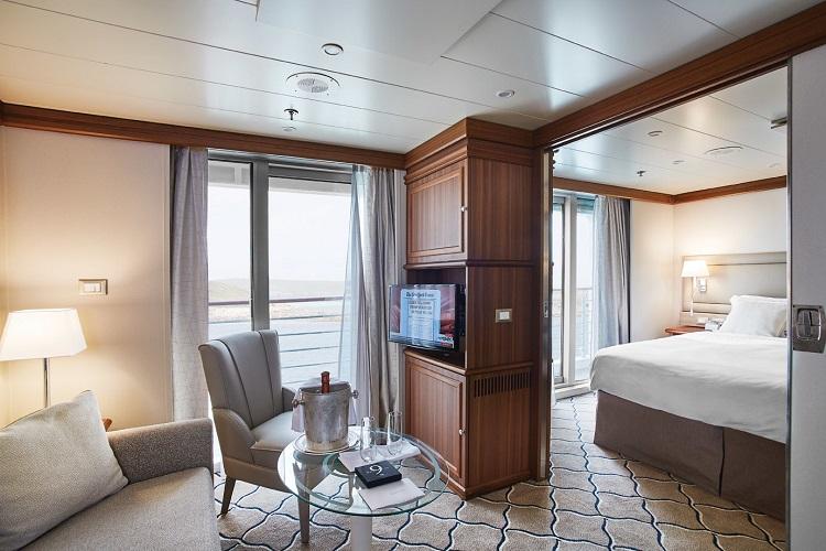 Refurbished veranda suite on-board Silversea Silver Explorer