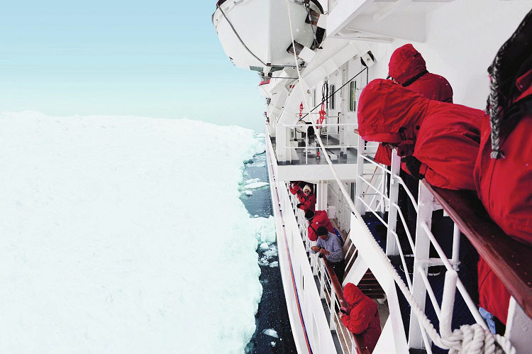 Expedition crew on-board ms Bremen