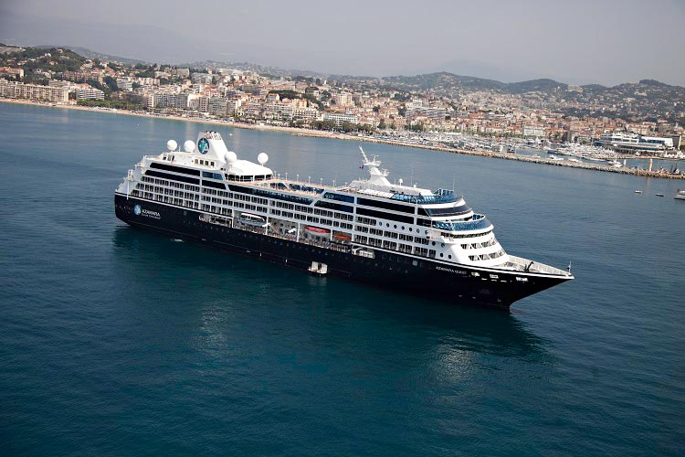 Azamara Cruises sailing through Cannes