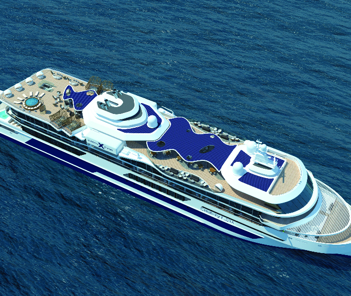 View of Celebrity Cruises newest addition to the fleet - Celebrity Flora