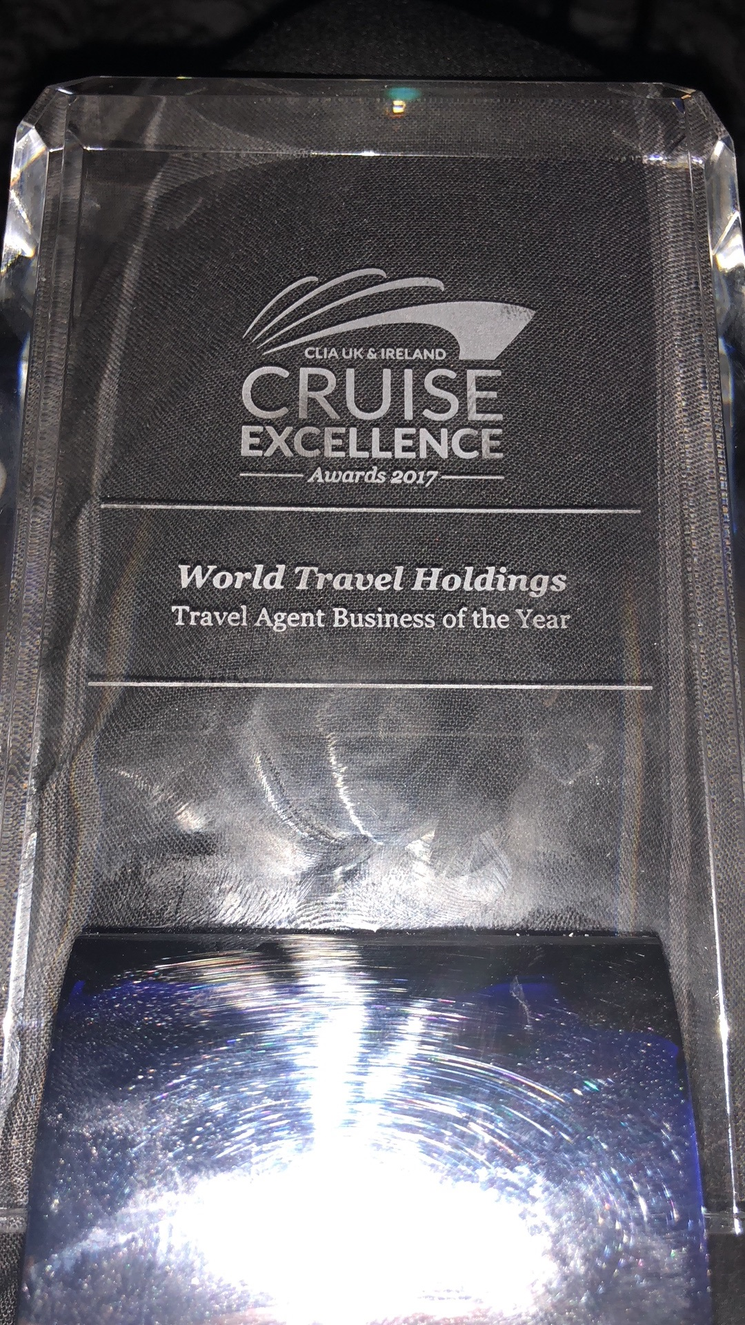 Travel Agent Business of the Year award at CLIA Cruise Excellence 2017