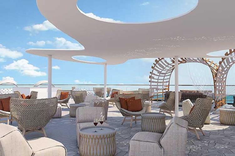 The Vista top deck on-board the Celebrity Flora cruise ship