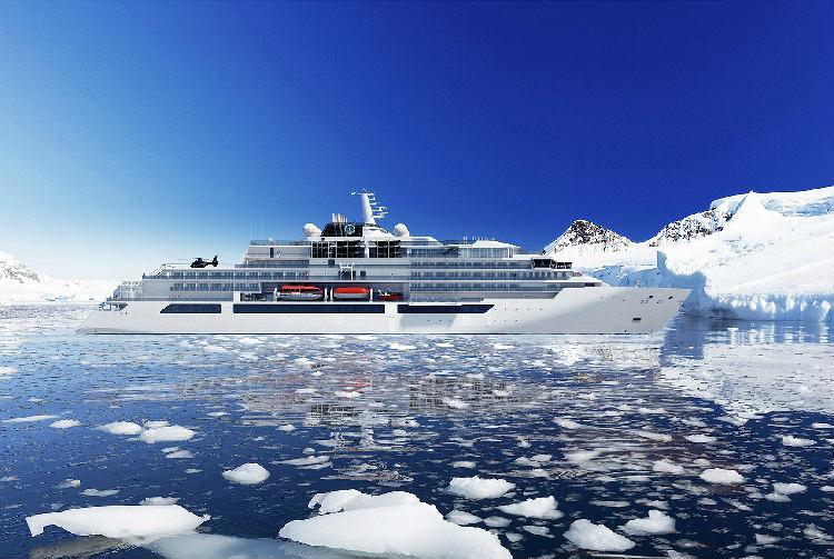 Crystal Endeavour cruising through the Arctic