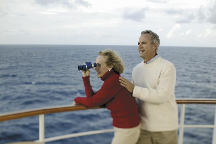 A couple on a Regent Seven Seas Alaska cruise