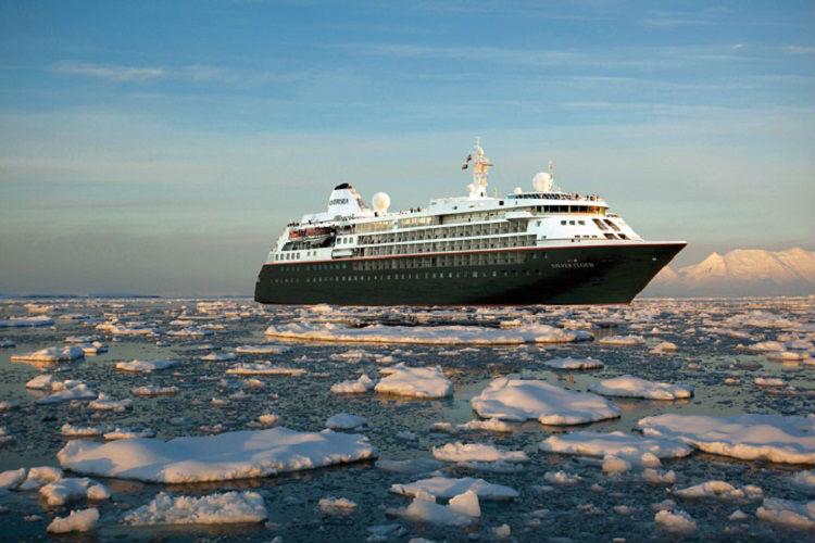 A Silversea expedition cruise ship - Silver Cloud