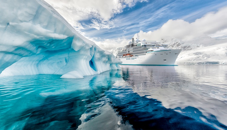 Crystal Endeavor sailing through ice
