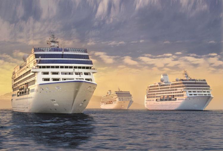 Three ships in the Oceania Cruises fleet