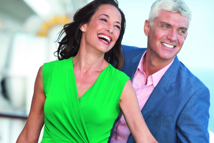 Couple on-board Crystal Cruises