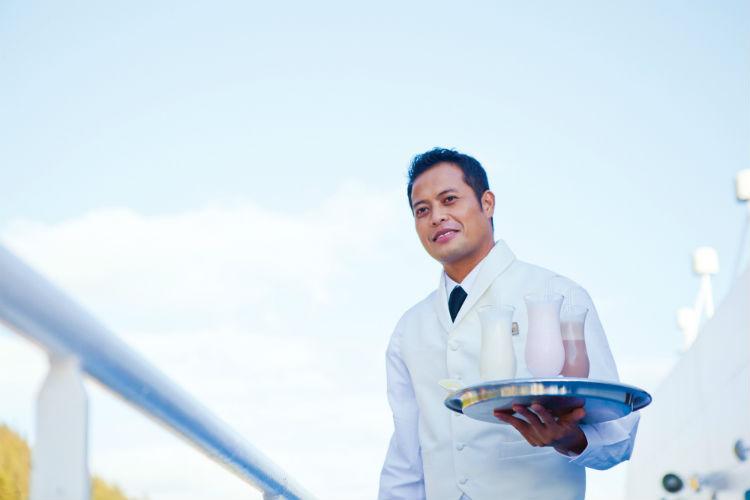 Waiter on-board Regent Seven Seas