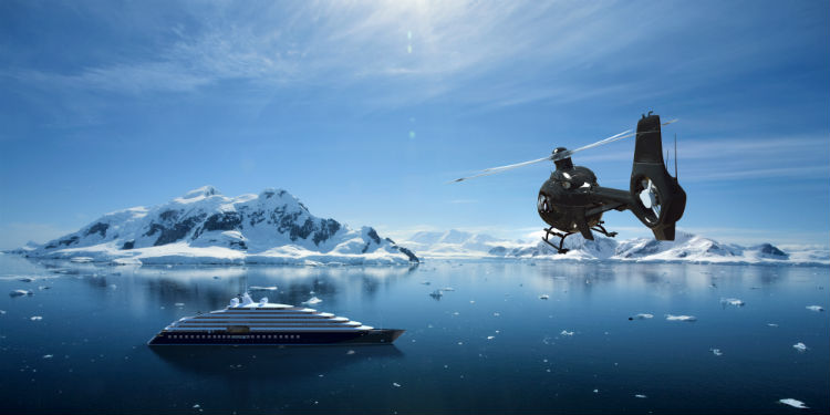 Helicopter ride aboard Scenic Eclipse - Antarcticaq
