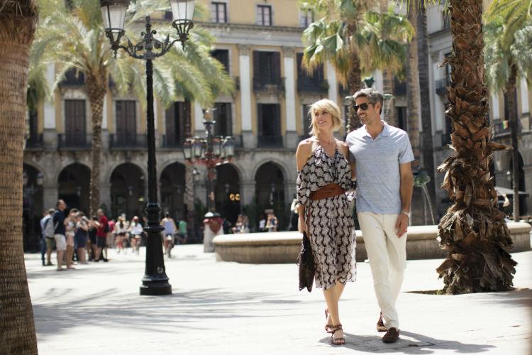 Couple in Barcelona, Spain