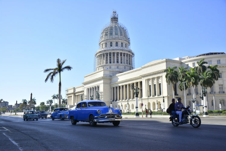 Cuba, Caribbean - Car and building