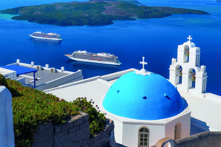 Santorini, Greece - Viking Sea