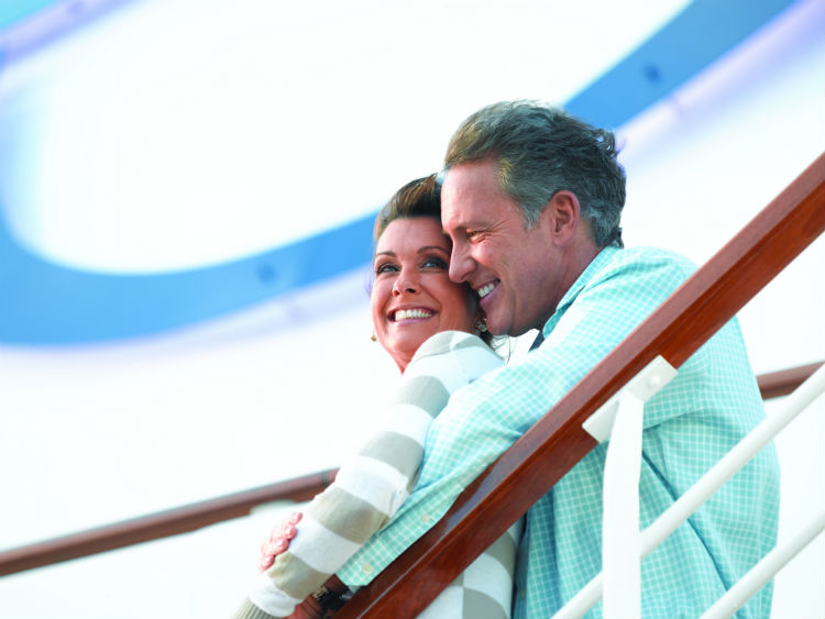 Couple on-deck - Oceania Cruises