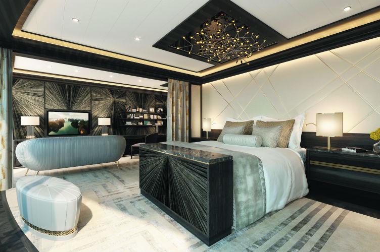 Master Bedroom - Regent Suite - Seven Seas Splendor