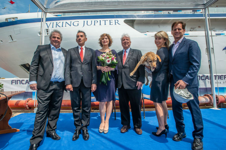 Viking Jupiter - Float out ceremony