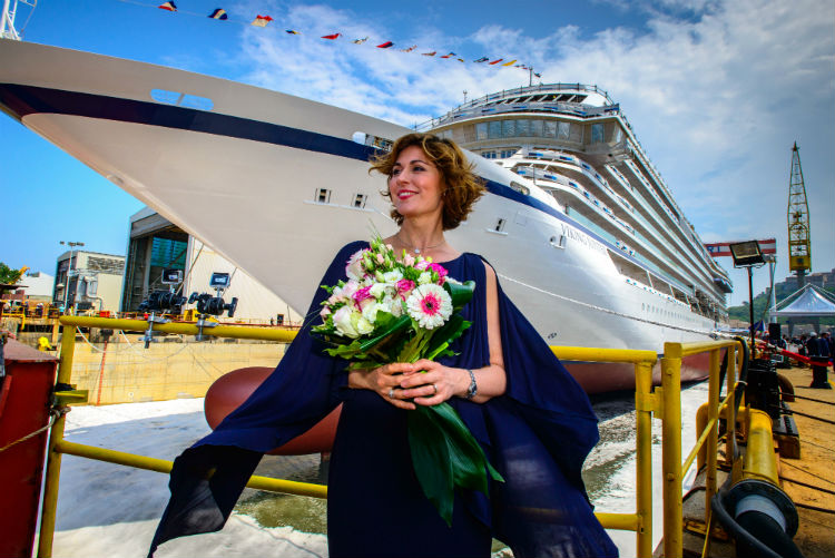Viking Jupiter Godmother - Float out ceremony