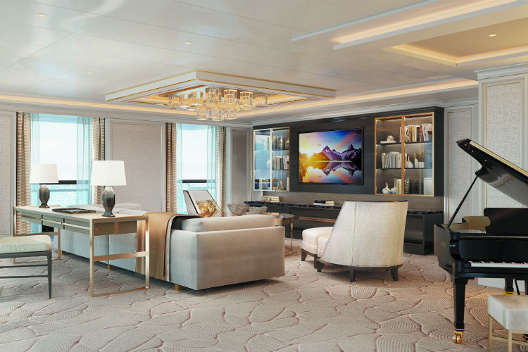 Living Room in the Regent Suite - Seven Seas Splendor